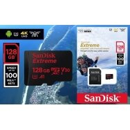 KARTA SANDISK EXTREME 128GB V30 CLASS10 MICRO SDHC 100/60 MB/S A1